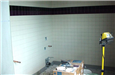 Hall of Justice - June 2002 - Bathroom tile installation