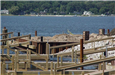 Heritage Landing - August 29 2001 - temporary concrete removed