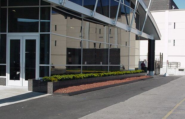 Hall of Justice - October 2001 - outside landscaping
