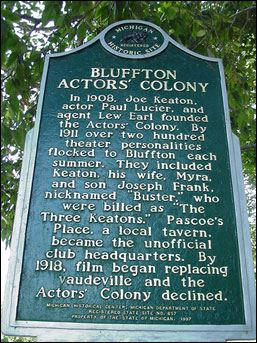 Bluffton Actors Historical Marker