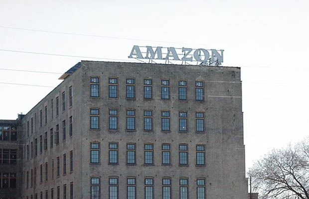 Amazon Building - February 22 2002 - new sign