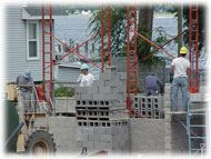 Balcom's Cove Condominiums - September 14 2001 - cement block work