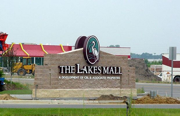 Lakes Mall - July 18 2001 - entrance sign