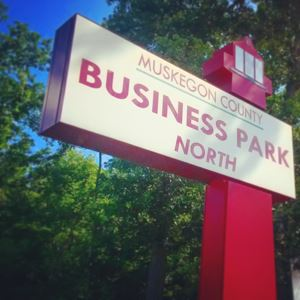 Business Park North Sign