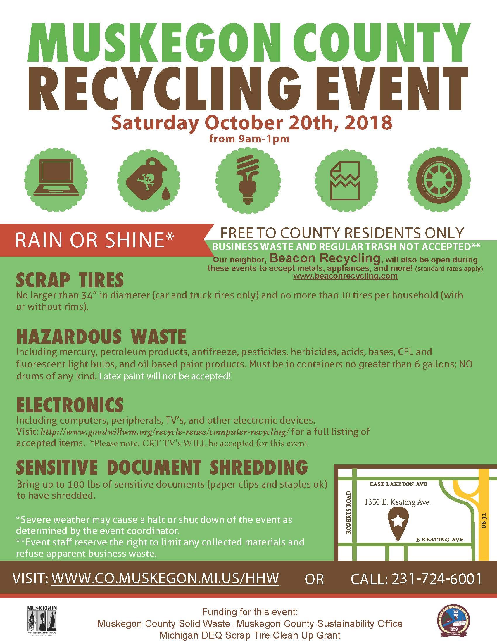 Saturday Hazardous Waste Events Muskegon County Mi