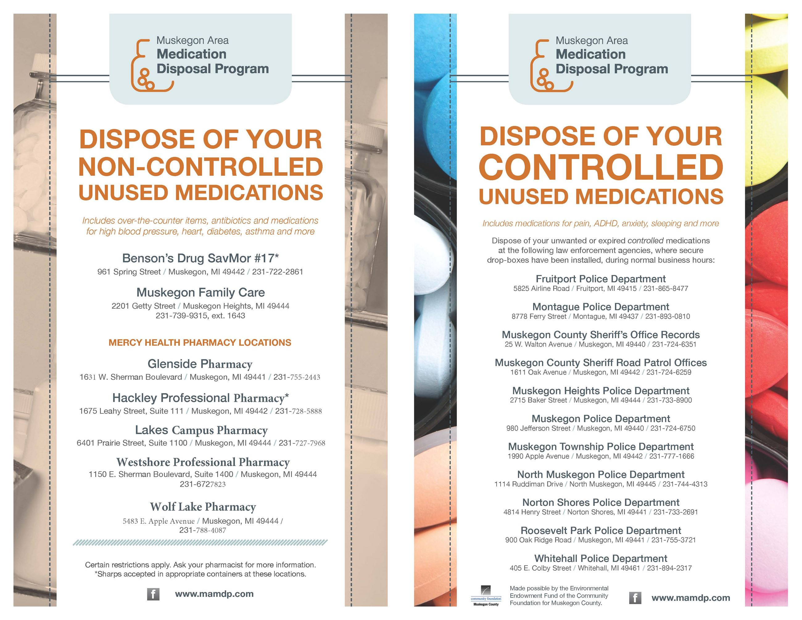 Generic MAMDP disposal flyer
