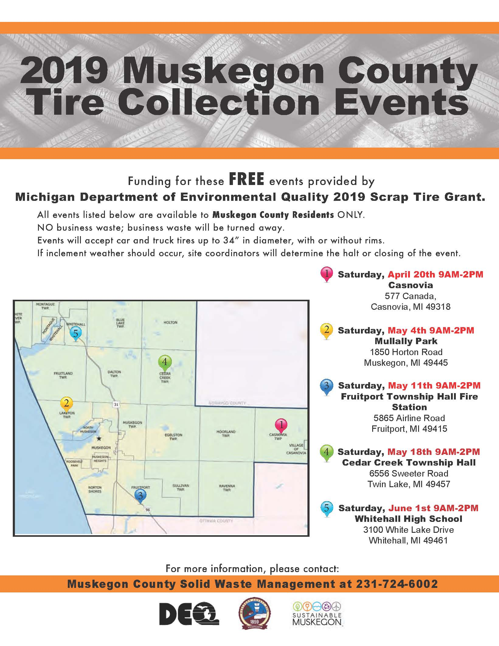 2019 tire event flyer - map numbered