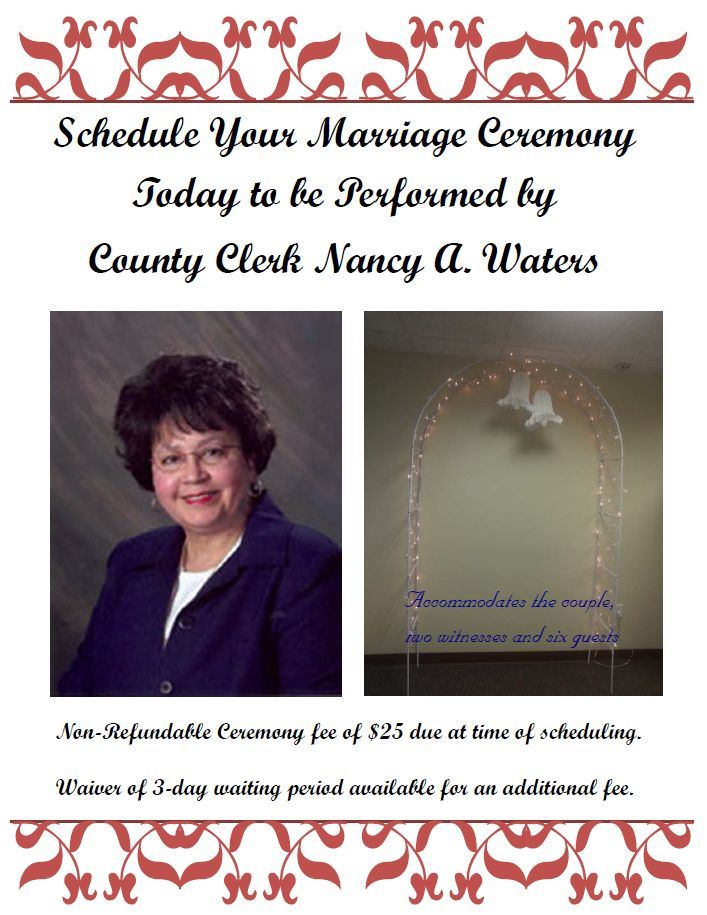 Marriage Ceremony Information Graphic