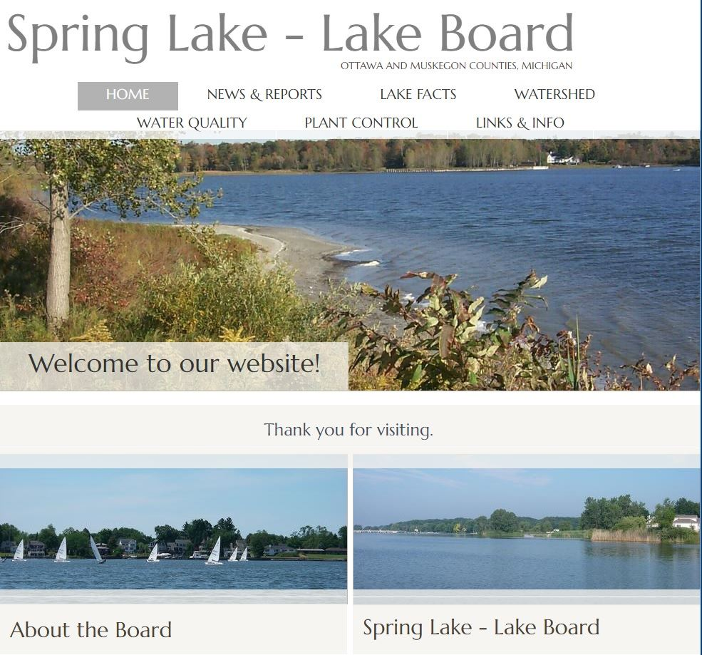 Spring Lake Lake Board Website