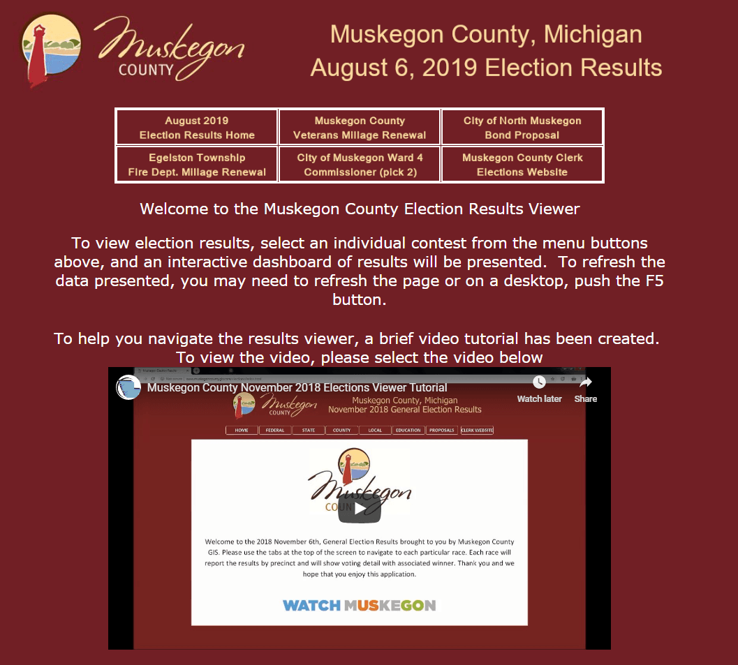 Geographic Information Systems (GIS) | Muskegon County, MI